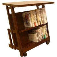 本棚付きサイドテーブル